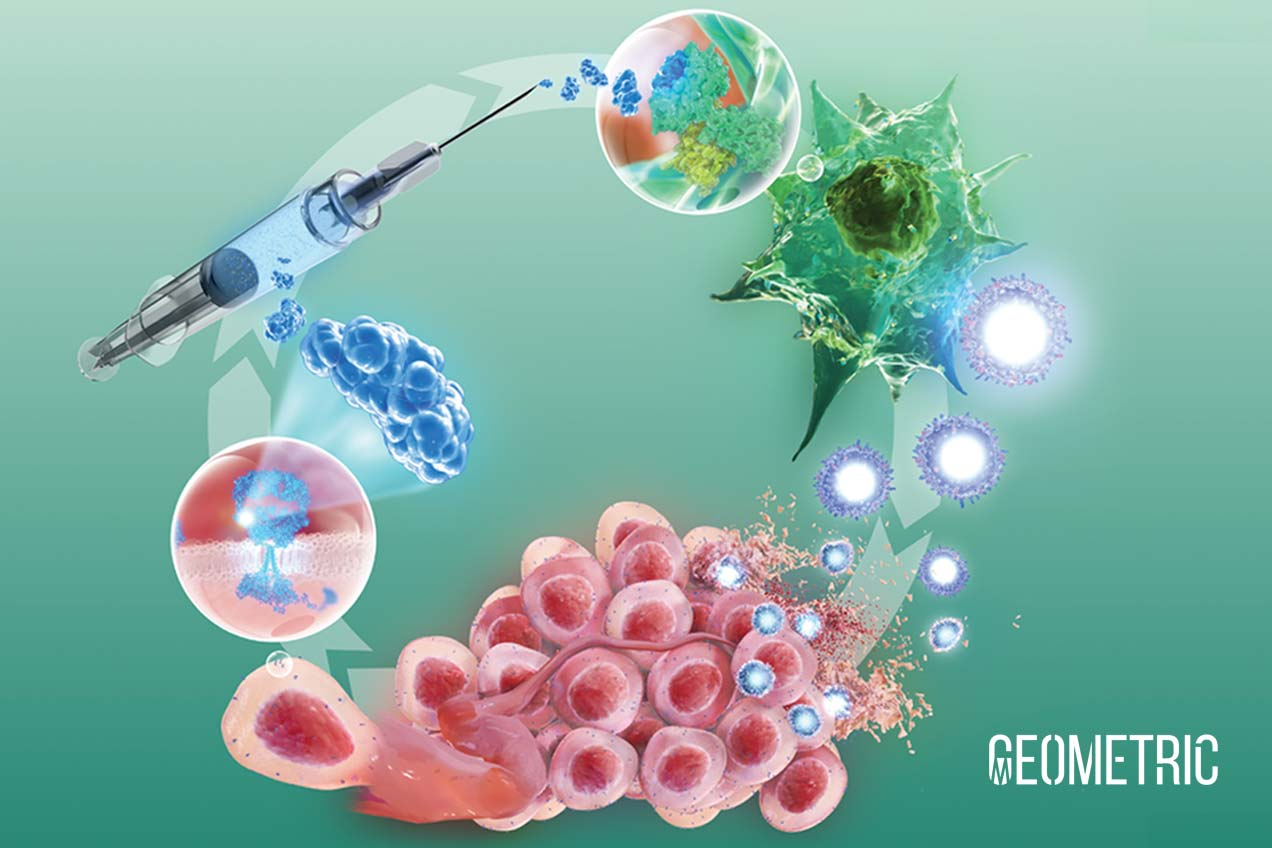 Diagram of Immuno-oncology, illustrated by Geometric Medical